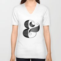 ampersand V-neck T-shirts featuring Ampersand by Jude Landry