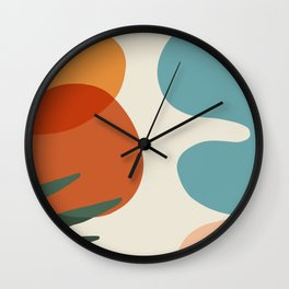 Abstract Art Beautiful summer pallette color Wall Clock