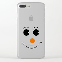 Happy face with orange nose vector Clear iPhone Case