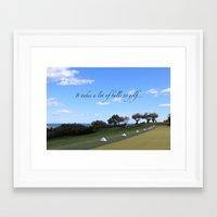 golf Framed Art Prints featuring Golf by Rebecca Bear