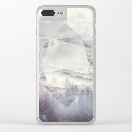 Geometric Vibes 01 Clear iPhone Case