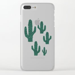 Cactus Crowd Clear iPhone Case