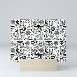 Halloween Pattern. Mini Art Print