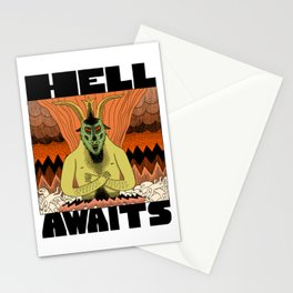 Hell Awaits Stationery Cards