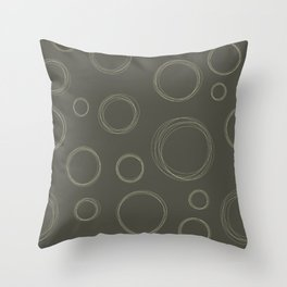 Circle Scribbles Seamless Pattern Throw Pillow