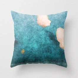stained fantasy cloud day Throw Pillow