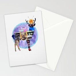 Deer Electro Cat Stationery Cards