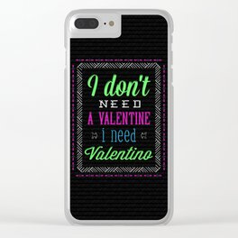 Fun Valentine Clear iPhone Case