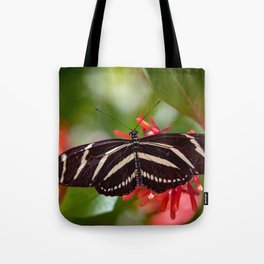Zebra Longwing Butterfly 2 Tote Bag