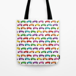 Vintage Mini Cars in rainbow colors Tote Bag