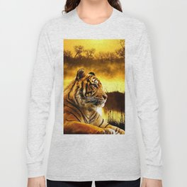 Tiger and Sunset Long Sleeve T-shirt