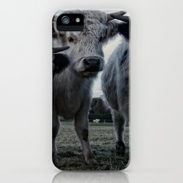 The Three Shaggy Cows iPhone Case