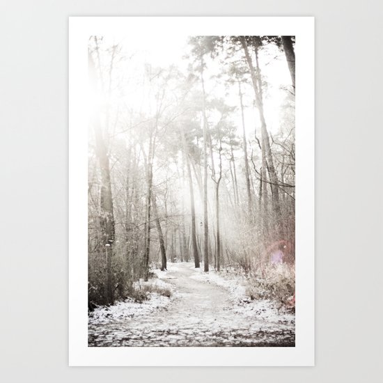 On a cold winter morning Art Print
