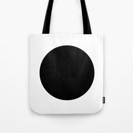 Black circle Tote Bag