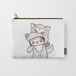 Scary White Wolf Carry-All Pouch