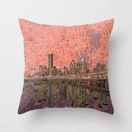houston city skyline Throw Pillow