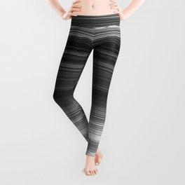 Black White Gray Thin Stripes Leggings
