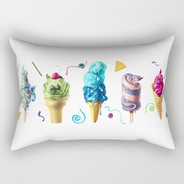 All Mutts Summer Flavours Rectangular Pillow