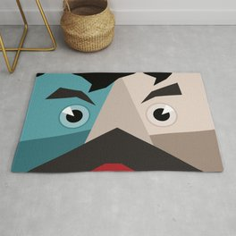 Face abstraction Rug