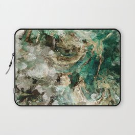 Teal Contemporary and Abstract Painting Laptop Sleeve