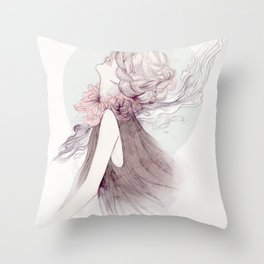 Faceless Series #1 Throw Pillow