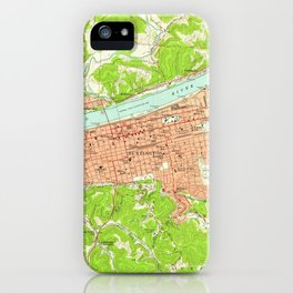Vintage Map of Huntington West Virginia (1957) iPhone Case