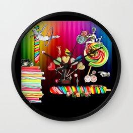 Sweet Rainbow Hug Wall Clock