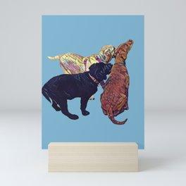 Three Amigos II in aqua Mini Art Print