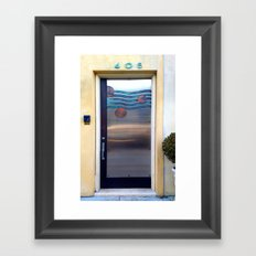 405 Sea Door Framed Art Print
