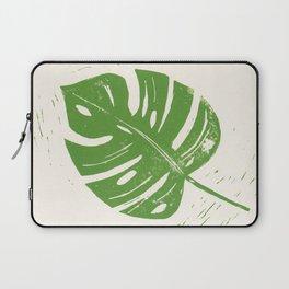 Linocut Leaf Laptop Sleeve