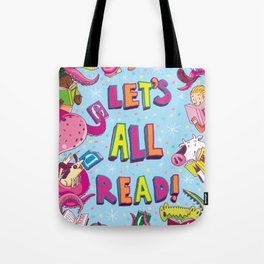 Let's All Read! Tote Bag