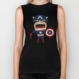 Screaming Captain America Biker Tank