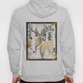 Deer in the Winter Forest Hoody