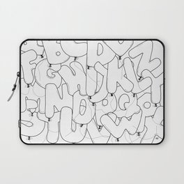 Balloon party letters Laptop Sleeve