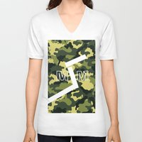 military V-neck T-shirts featuring Military  by ''CVogiatzi.