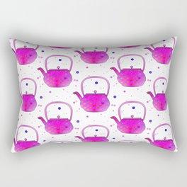 Pink Teapots Rectangular Pillow