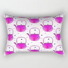 Pink Teapots Rectangular Pillow