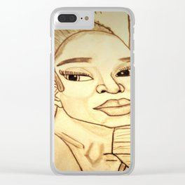 Beauty by Double R Clear iPhone Case