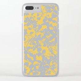 Sunshine Yellow - Broken but Flourishing Floral Pattern Clear iPhone Case
