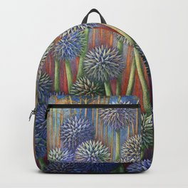Echinops-Globe Thistle with Monarch Backpack