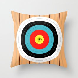 Shooting Target Throw Pillow