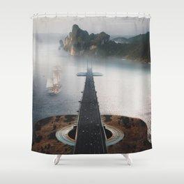 Guitar Island by GEN Z Shower Curtain