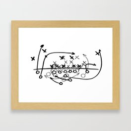 Football Soccer strategy play Diagram  Framed Art Print