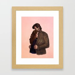 a jacket for two // kabby fanart Framed Art Print