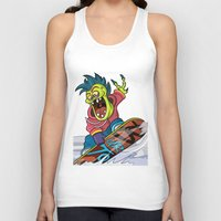 snowboarding Tank Tops featuring Snowboarding by Brain Drain Fox