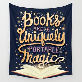 Books are magic Wall Tapestry