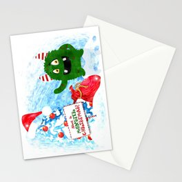Kids Monster Christmas Playful for Young Children Stationery Cards