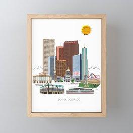 Denver Skyline Framed Mini Art Print