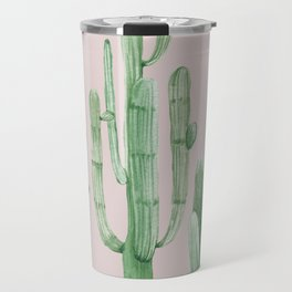 Three Amigos Green + Pink Travel Mug