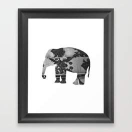 Elephant (The  Living Things Series)  Framed Art Print